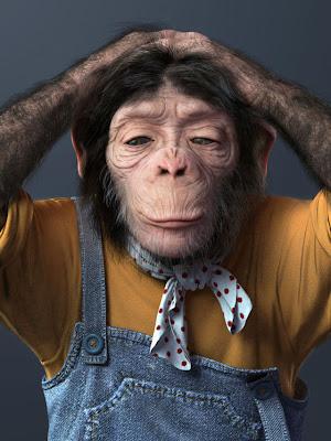Modelado 3D de mono