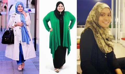 7 Gambar Model Baju Hijab Modis Trendy Untuk Orang Gemuk Terbaru 2016