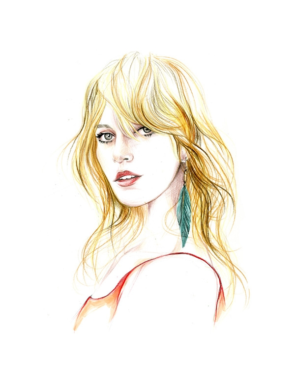 12-Caroline-Andrieu-Fashion-Shows-Distilled-into-Drawing-Portraits-www-designstack-co