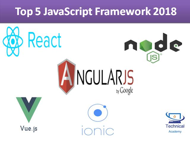Top 5 JavaScript Framework in 2018