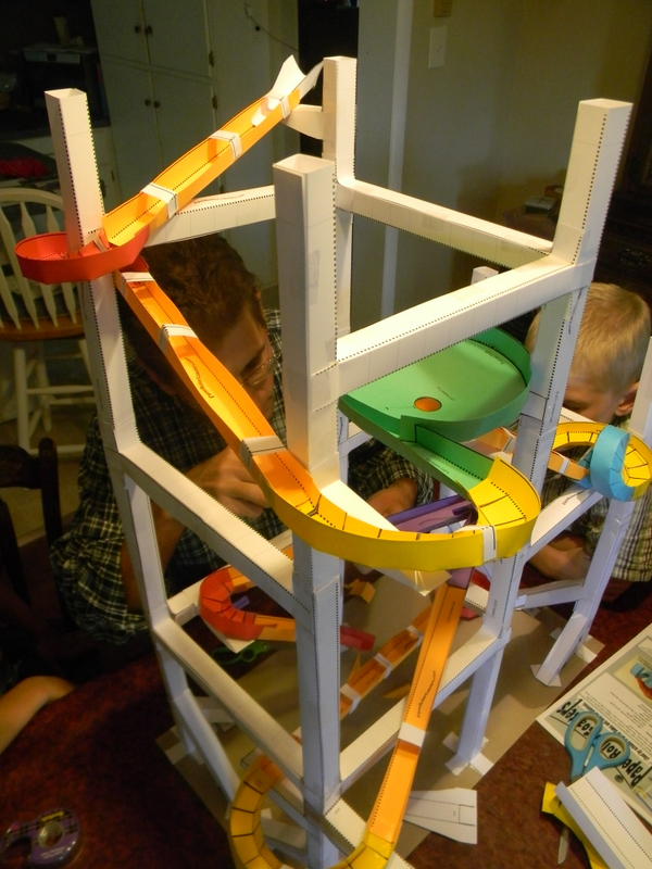 home joys  make your own marble roller coaster from paper