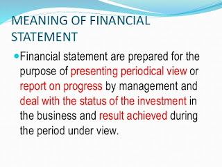Meaning Of Financial Statement: Three major Financial Statements