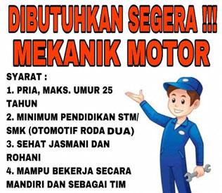 PT Duta Motor Membutuhkan Mekanik Motor