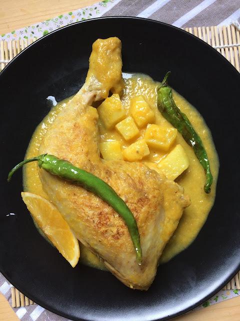 pollo guisado a la naranja receta