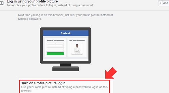 Cara Login Facebook dengan Gambar Frofil tanpa Menggunakan Password 4