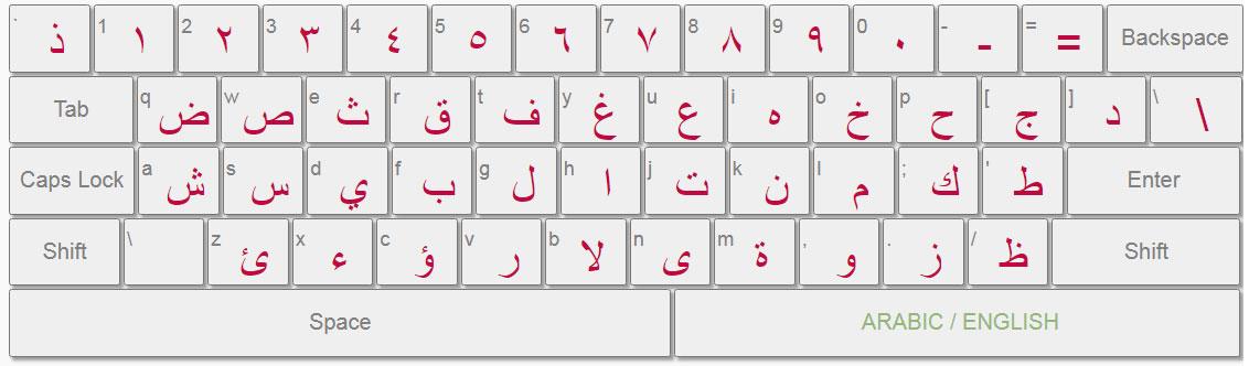 clavier arab