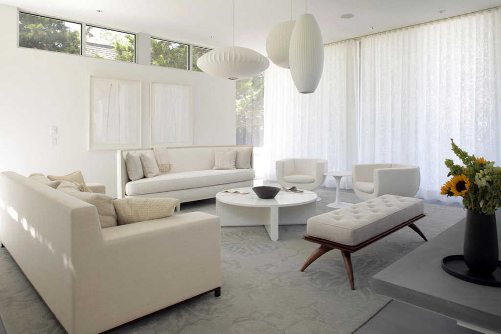 50+ Minimalist, Modern Living Room Interior Designs And Classic White Paint Colors