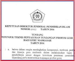 Juknis Tunjangan Profesi Guru Madrasah Tahun 2016