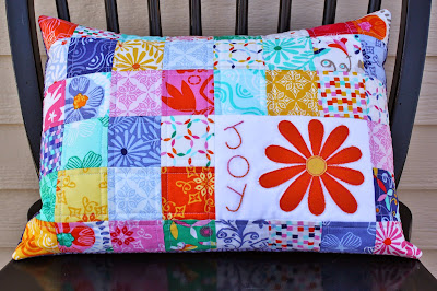 Crafting a quilted pillow for spring