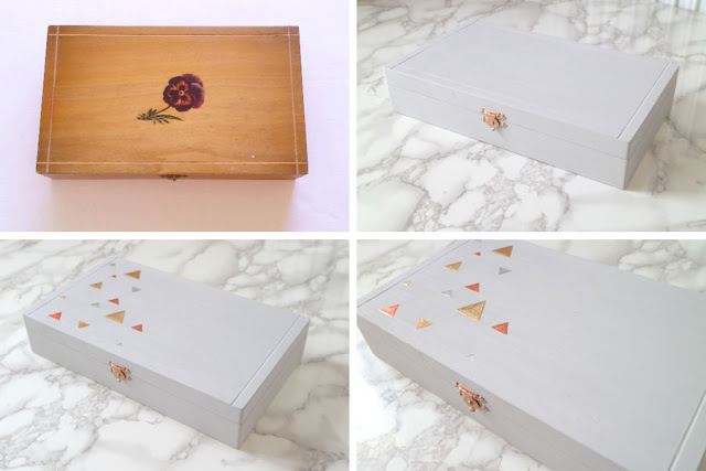 fake concrete geometric box