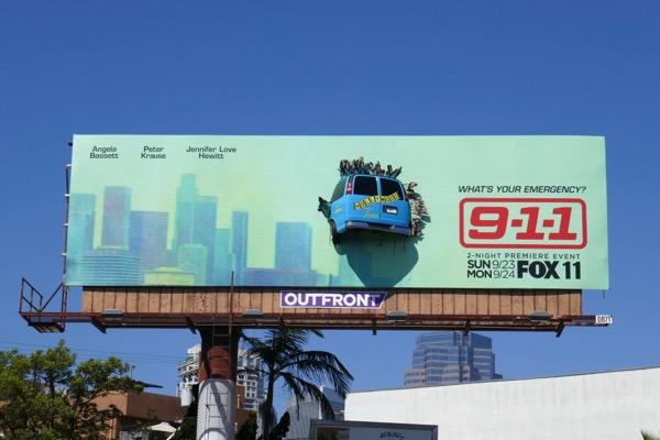 Crashed 3D tour bus 911 season 2 billboard