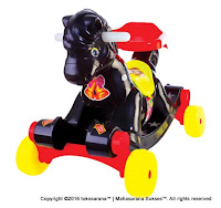 SHP KH582 Black Horse Ride-on Car and Rocker