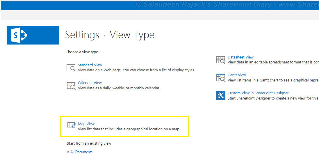 How to Create Map View in SharePoint 2013