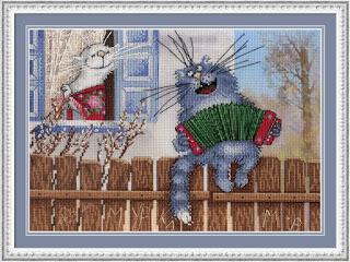 Cross-stitch М.П. Студия РК-504 «Живет моя отрада в высоком терему»