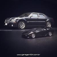 Chrysler 300c (AMT 1/25) e Lamborghini BBurago