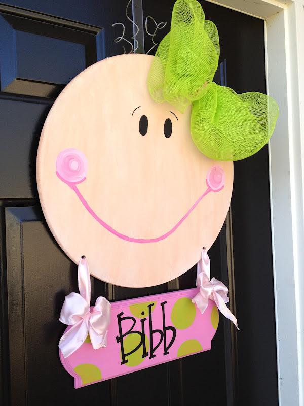 Crafty Couture Baby Girl Door Hanger