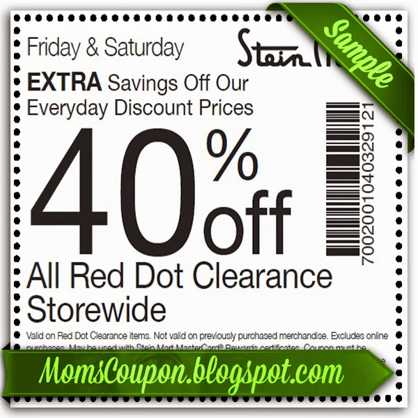 Today's top Stein Mart coupon: 20% Off 2 Sale Items. Get 50 Stein Mart coupons and printable coupons for December on RetailMeNot.