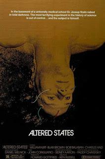 Poster Altered States, una gran película de Ken Russell