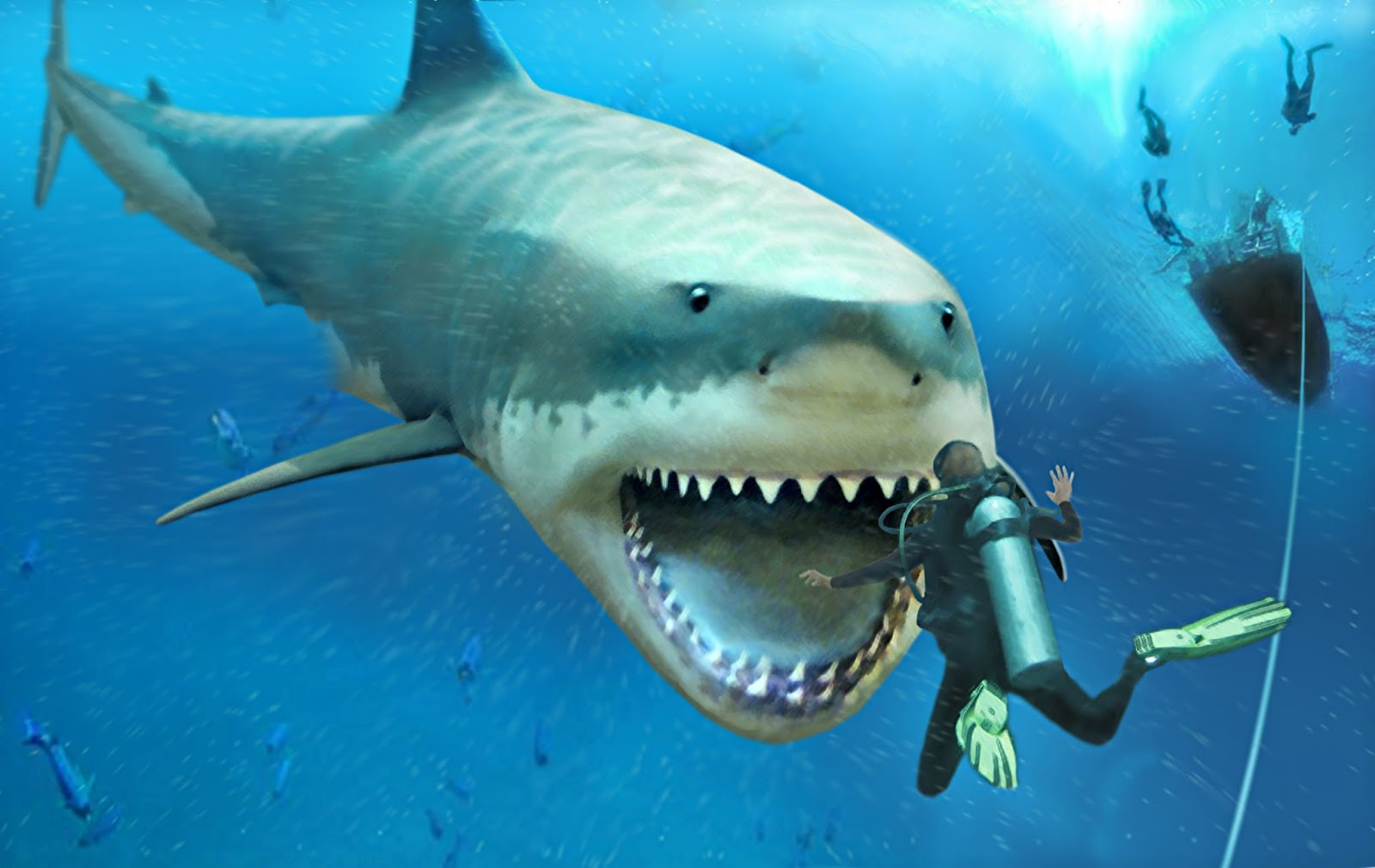 shukernature the jaws of megalodon shark of nightmare and reality