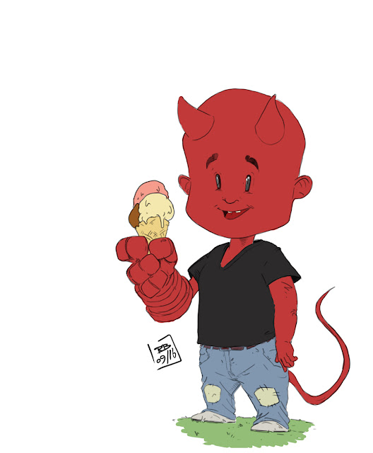 Young Hellboy _ first colors