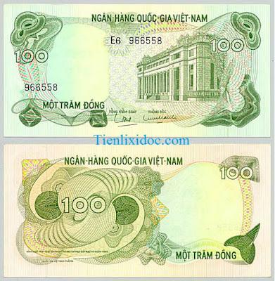 100 đồng việt nam cộng hòa 1969