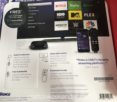 Costco 999833 - The Roku 3 4230X Streaming Player will make cancelling cable easier