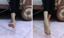 Menganyunkan kaki untuk mengatasi kesemutan di tangan