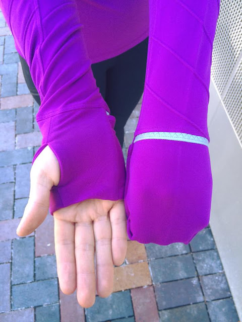 lululemon tender-violet face-the-frost-half-zip