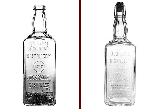 Jack Daniel's square bottles 1895 - 1900