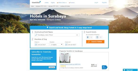 Traveloka Hotel Surabaya, Promo Hotel Murah Terbaru