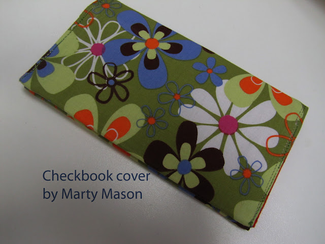 fabric checkbook cover - marty mason