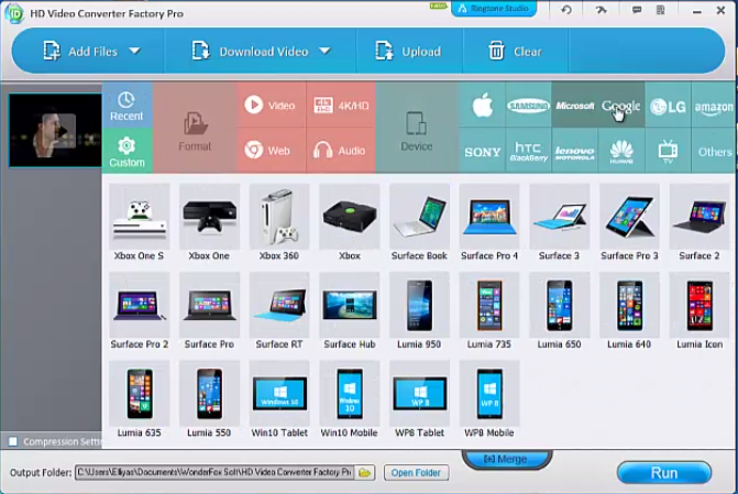 Multiple device support of HD Video Converter Factory Pro