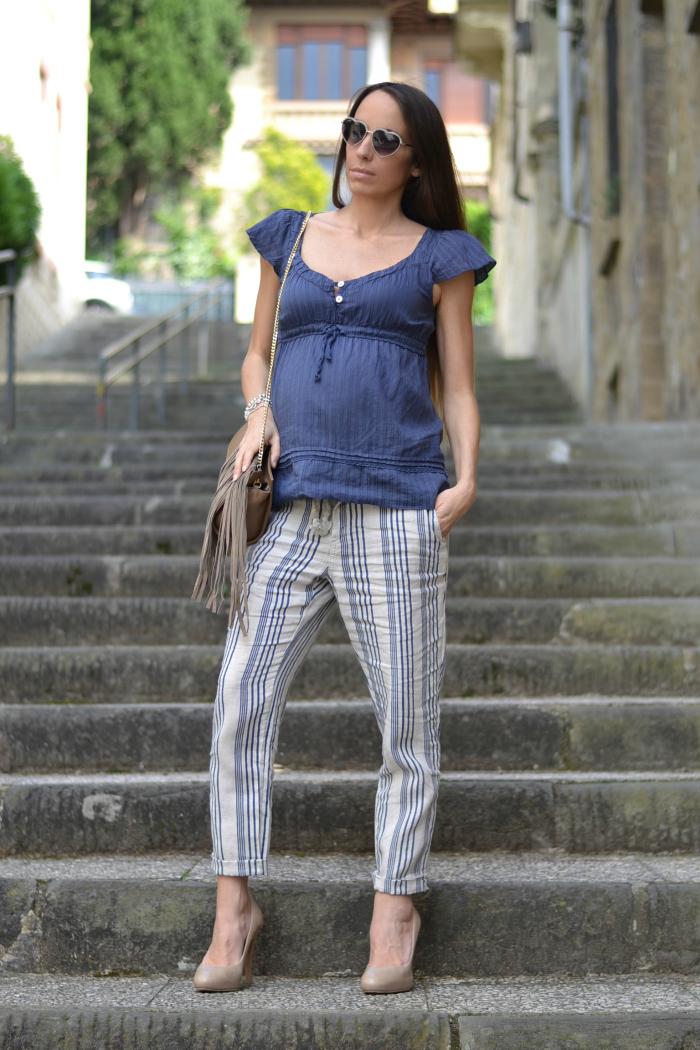 outfit gravidanza pantaloni