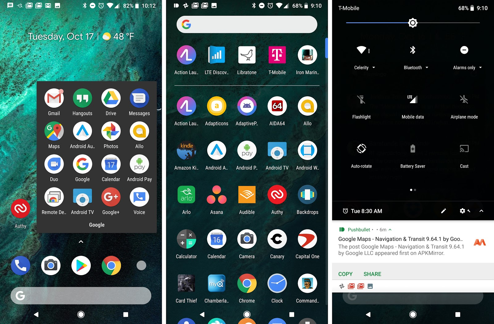 how to create folders for apps google pixel 2