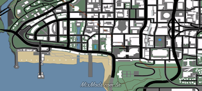 gta sa san andreas new radar map mod by D159 HD