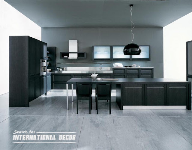 Japanese Kitchen Black Cabinets