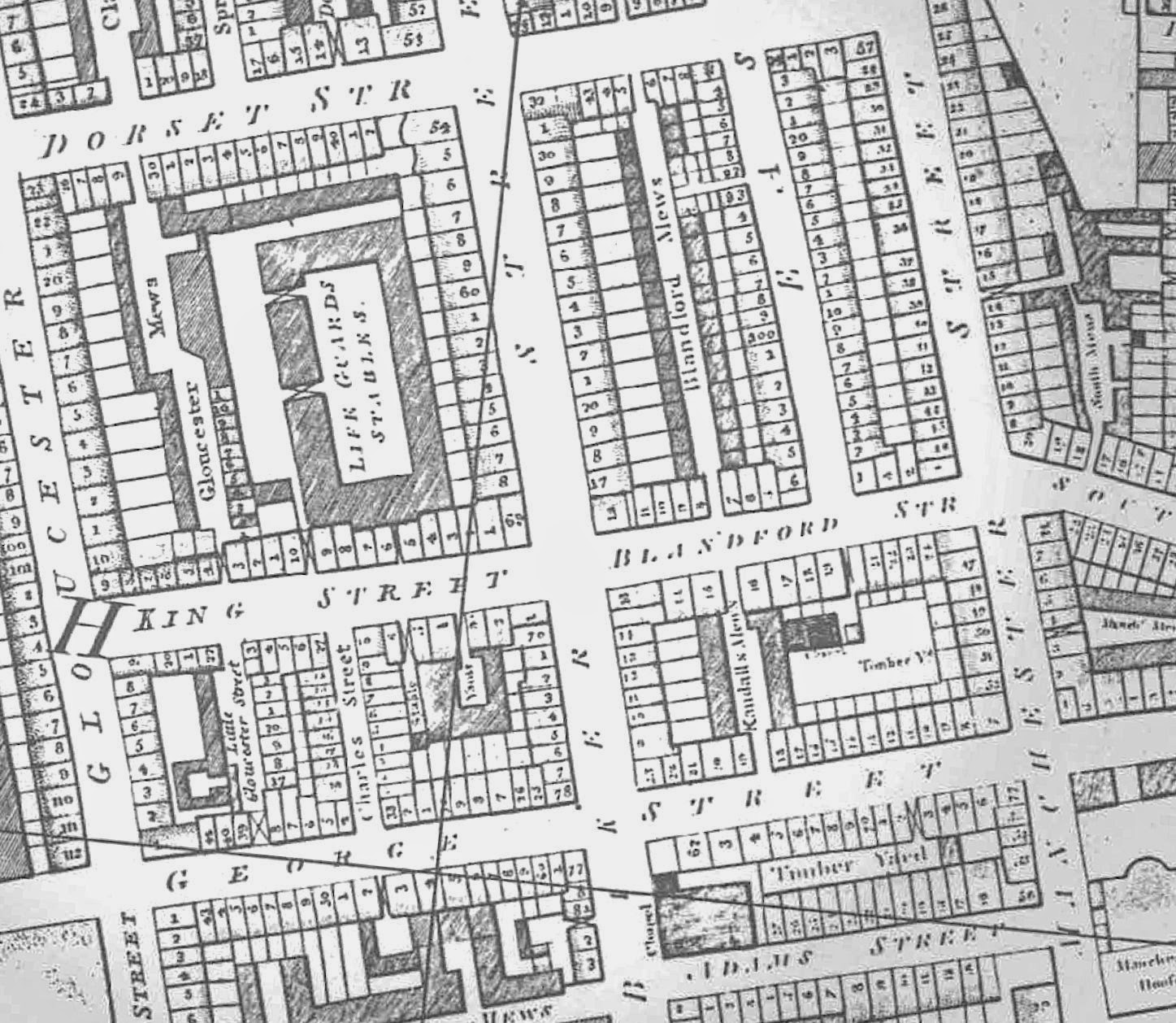 A look at the layout around Baker Street via a Grub Street project