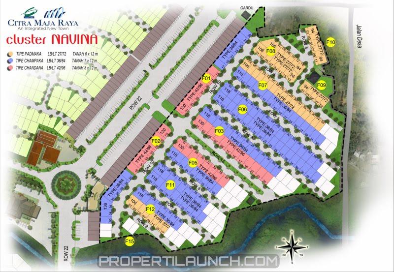 Site Plan Cluster Navina Rumah RE Citra Maja Raya 2