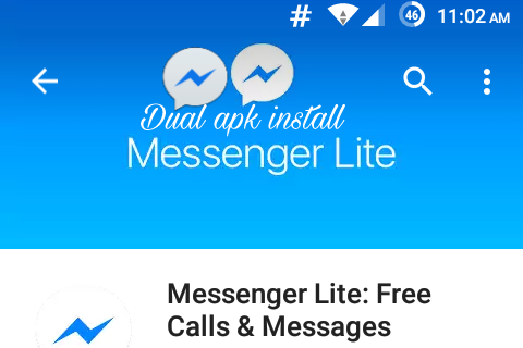 how to download two messenger in one phone dual fb lite messenger