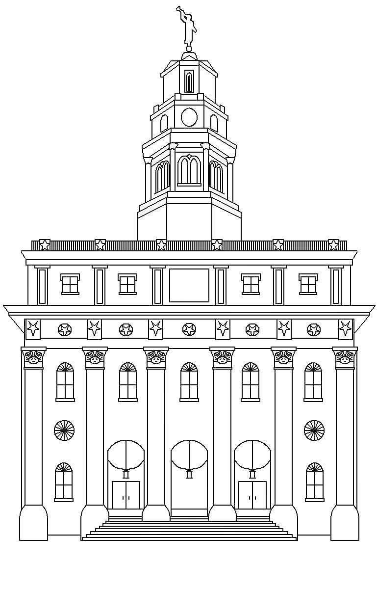 Our Deseret Home Temple Coloring