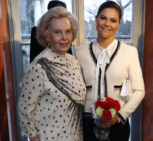 Crown Princess Victoria attended opening of the 'Chanel, Balmain, Dior: Marianne Bernadotte - a style icon' exhibition in Lidingo city