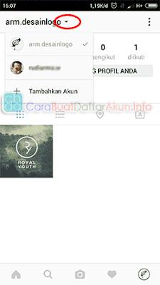 cara login instagram dengan 2 akun