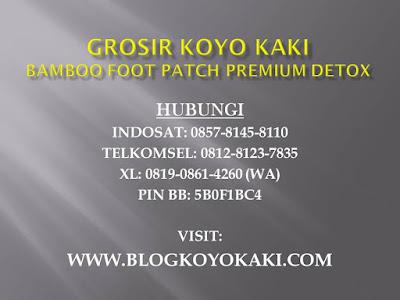 Koyo Kaki Bamboo Foot Patch bekasi jakarta depok bogor dan tangerang