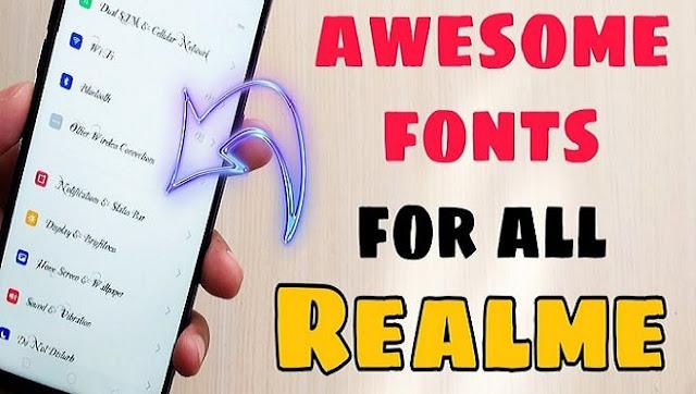 Cara Mengganti Font Realme 5