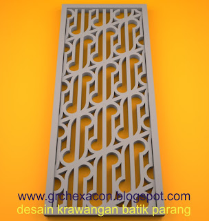 krawangan GRC motif batik parang