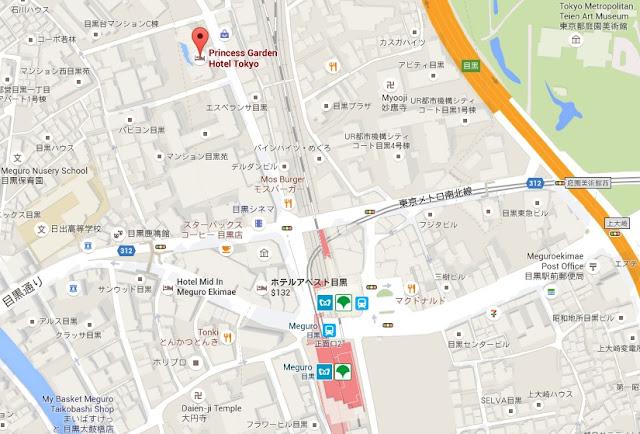 Princess Garden Hotel Google Map. Tokyo Consult. TokyoConsult.
