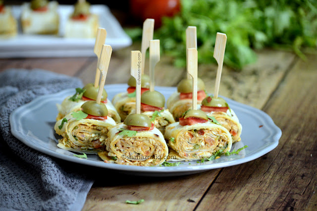 Mexican Chicken Pinwheels ~ Ramadan Snacks ~ No-Deep Fried Snacks