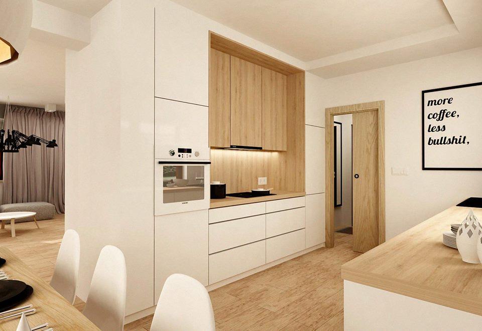 30 ideas de cocinas en blanco y madera i cocinas con - Cocina blanca encimera blanca ...