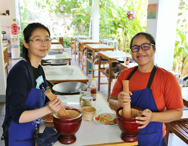 Thai Secret Cooking Class Photos. March 11-2017. Pa Phai, San Sai District, Chiang Mai, Thailand.