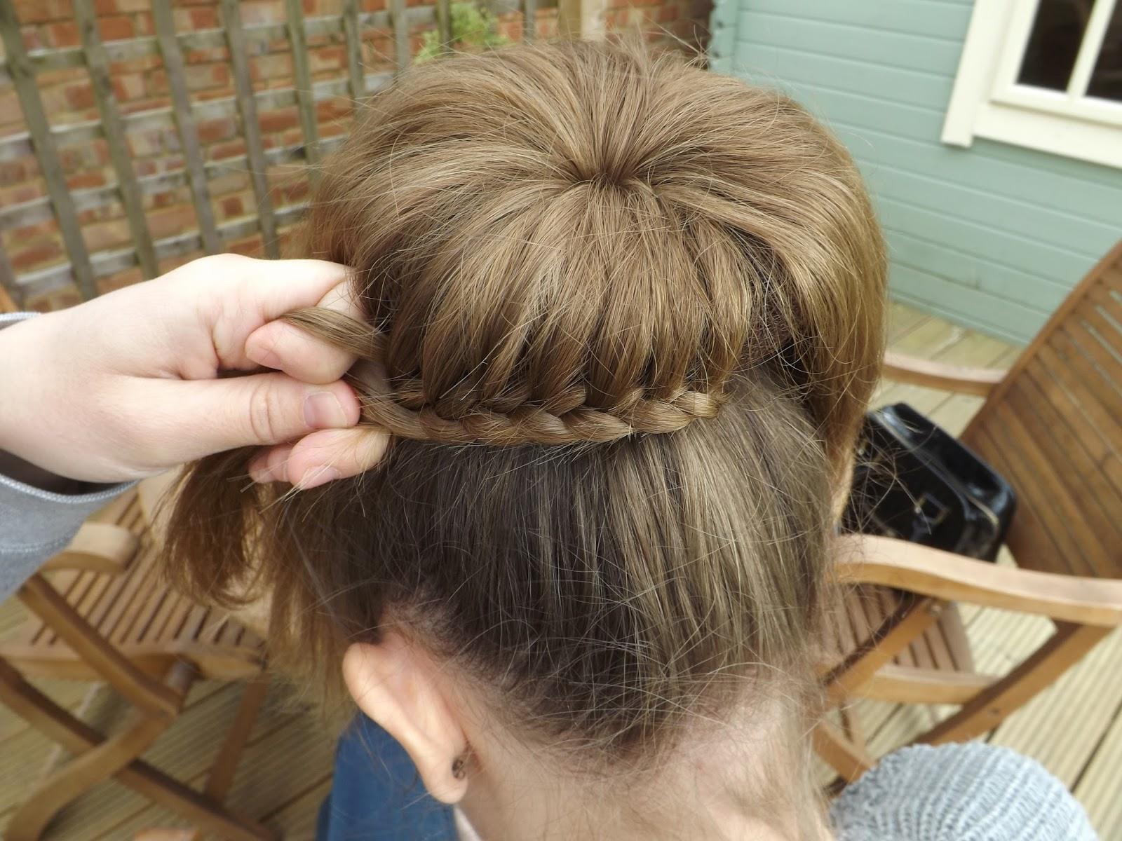 Hair Tutorial: How to do a French Braided Bun - Lottie Pearce